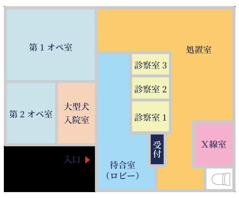 日本ペット診療所 1Fマップ