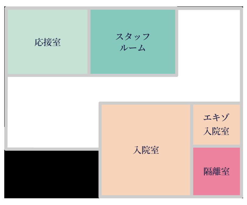 日本ペット診療所 2Fマップ
